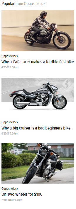 Illustration for article titled A cafe racer is a terrible beginner's bike. A big cruiser is a bad one, too.