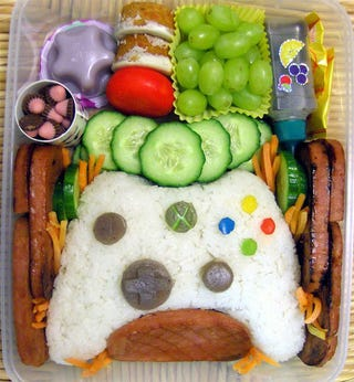 Illustration for article titled The Xbox 360 Controller In Tasty Bento Form