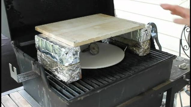 Make Your Gas Grill Into A Pizza Oven On The Cheap