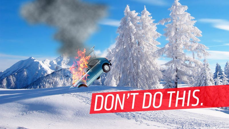 Illustration for article titled Canadians Wreck Car, Set It On Fire To Keep From Freezing, Go To Jail