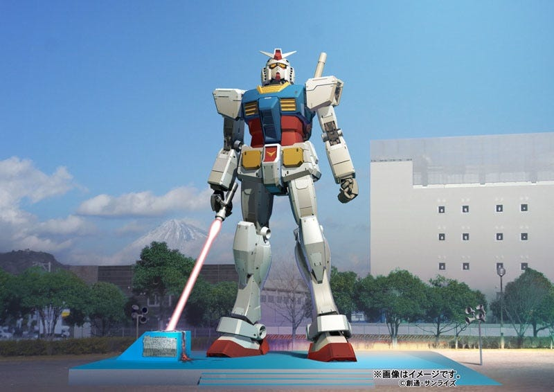 Illustration for article titled Giant Gundam Returns With Giant Beam Saber