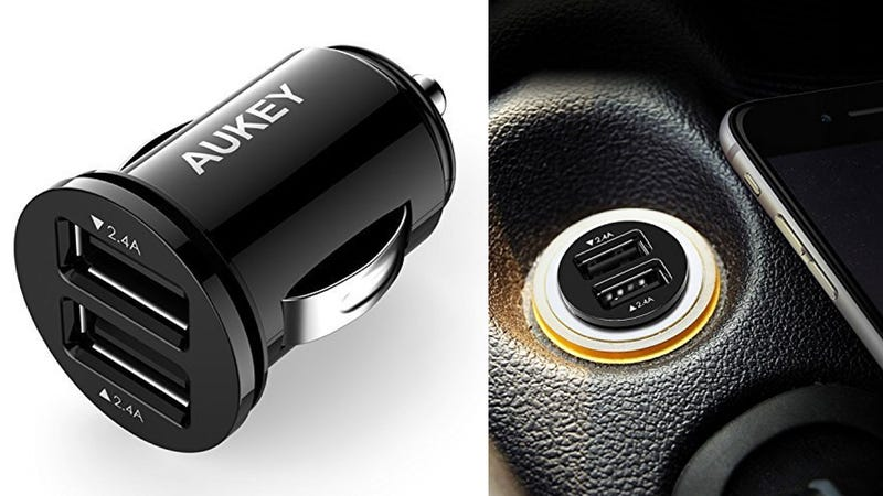 Aukey Slim Profile USB Car Charger, $8 with code A2CHARGE