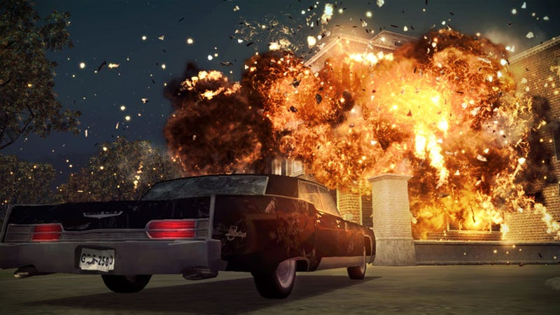 Illustration for article titled New Godfather II Screens Are... LOOK! EXPLOSIONS!