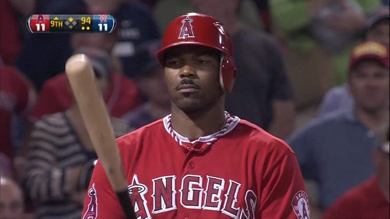 Illustration for article titled Howie Kendrick's Mustache Last Night Was, Erm, Unique