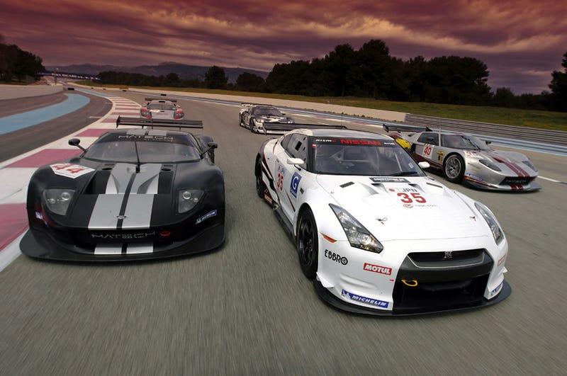 Illustration for article titled 2009 FIA GT Racers Trot Out For Spring Testing In France