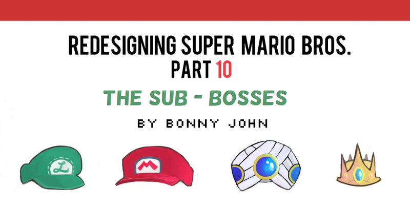 Illustration for article titled Redesigning Super Mario Bros 10 - Sub Bosses!