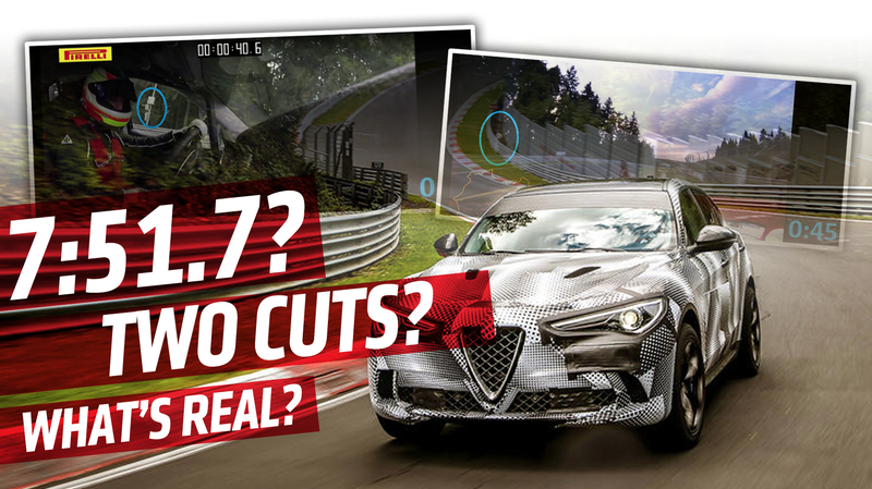 Illustration for article titled Alfa Romeo's Nürburgring SUV Record Lap Video Seems To Be Edited