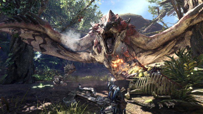 Monster Hunter: World makes fighting fantasy dinosaurs as