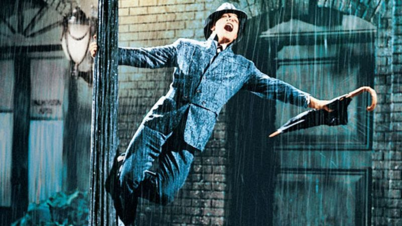 """Illustration for article titled """"Singin' In The Rain"""" without music is still charming"""
