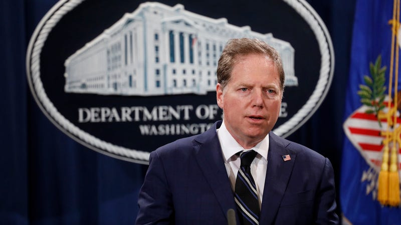 Geoffrey Berman, United States Attorney for the Southern District of New York, speaks at a press conference about the apprehension of a suspect in the recent spate of mail bombings at the Department of Justice on October 26, 2018 in Washington, DC.