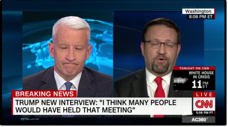 Joe Concha Scolds Anderson Cooper for Calling Gorka 'Hungarian Don Rickles'