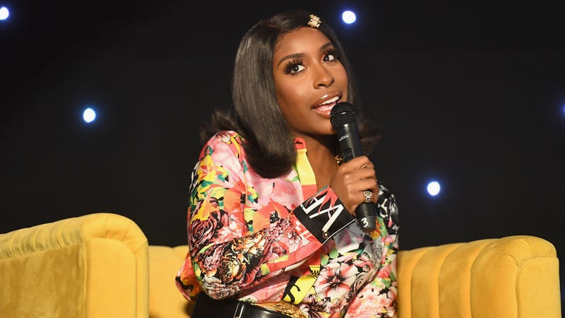 Jackie Aina speaks onstage during the 2019 ESSENCE Beauty Carnival on April 28, 2019 in New York City.