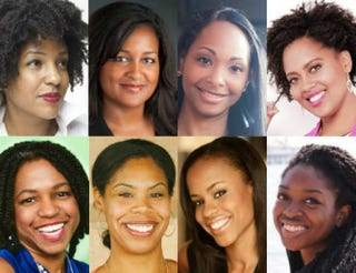 Top row: Cassidy Blackwell; Chanelle Hardy; Bari A. Williams; Jasmine Lawrence. Bottom row: Stacy Brown-Philpot; Erica Baker; Zuhairah Washington; Omosola Odetunde.Courtesy of those pictured