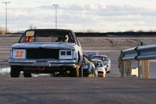 Illustration for article titled Day Two Of Racing Begins: Nissan Zs Sweating Miata Leader, Olds In 6th Place