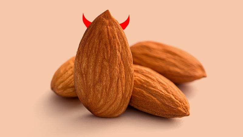 How many almonds are in an ounce?