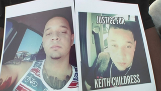 Family and friends of Keith Childress Jr. (pictured) want answers after the 23-year-old was shot and killed by Las Vegas police who mistook his cellphone for a gun.NBC San Diego Screenshot