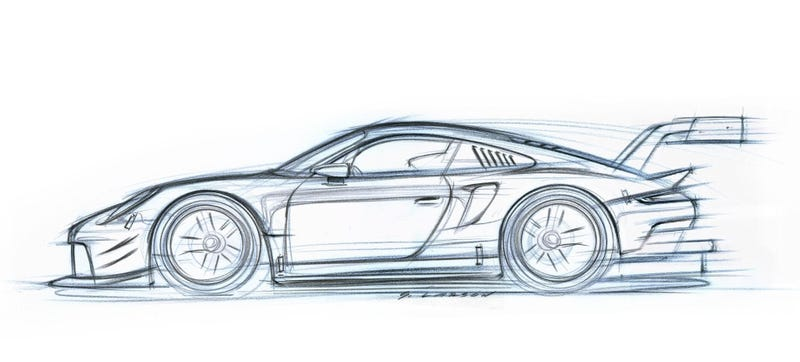 Even The Sketch Of The New Mid-Engine Porsche 911 RSR Race Car Is ...