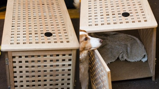 Convert An Ikea Storage Table Into An Attractive Pet Crate
