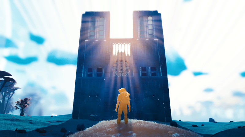Illustration for article titled No Man's Sky Player Builds Gorgeous Notre-Dame Tribute