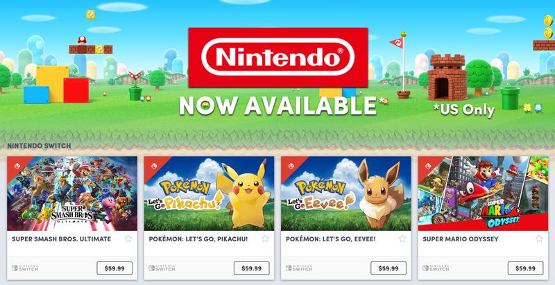 Humble Nintendo Store