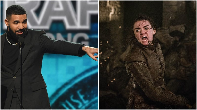 Illustration for article titled Drake offers up a Billboard Music Awards shout-out to one of the real heroes: Arya Stark
