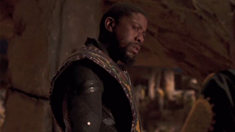 A regretful T'Chaka reunites with his son in a Black Panther deleted scene.