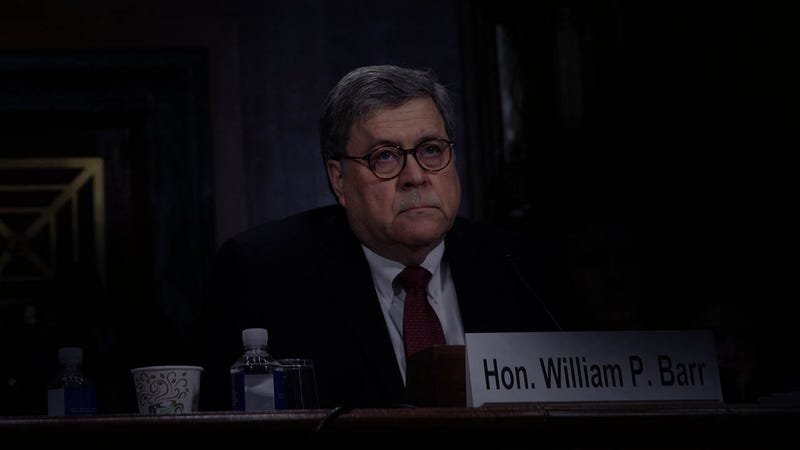 Illustration for article titled William Barr Shows Up To Congress To Testify At 3 A.M. After Reading Email Wrong