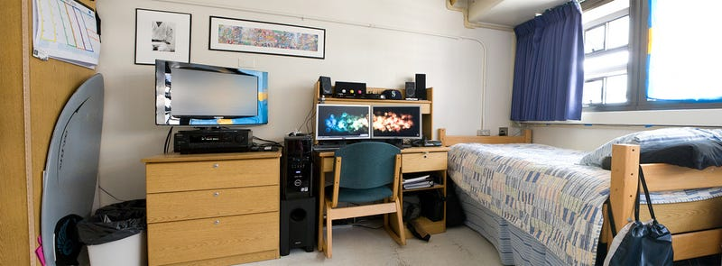 Making the best of dorm life dual screens and skimboards Dorm room setups