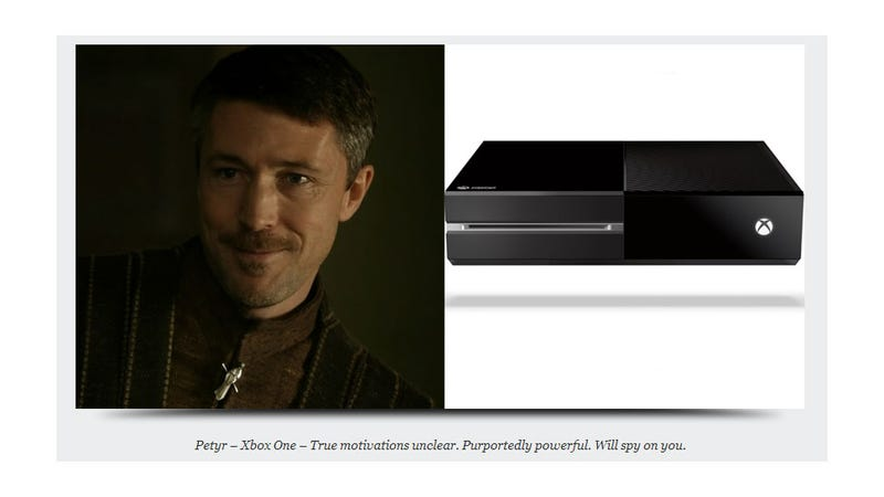 Illustration for article titled How Game Of Thrones Characters Are Like...Video Game Consoles