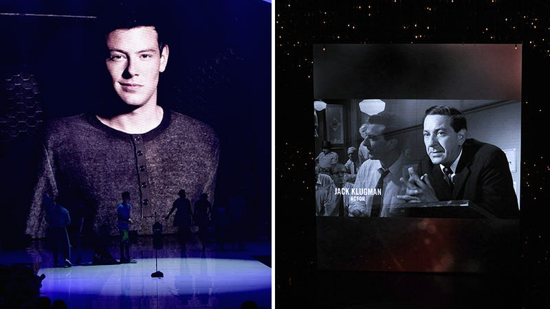 Illustration for article titled Emmys Tribute to Cory Monteith Angers Jack Klugman's Family