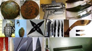 Illustration for article titled Here Are the Crazy Things the TSA Found Last Week: Cannonballs, Grenades, Ninja Stars and More