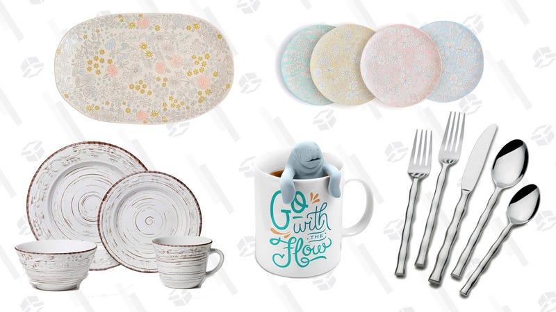 Dinnerware and Flatware Gold Box | Amazon