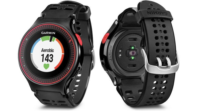 garmin has finally put a heart rate monitor in a gps running watch its gps hardware into a running watch that doesn t look monstrous on your wrist but heart monitoring always required wearing an awkward chest strap