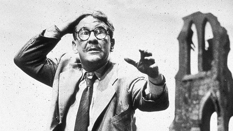 "Burgess Meredith in The Twilight Zone's ""Time Enough At Last"" (Photo courtesy of Sci Fi Channel/Getty Images)"