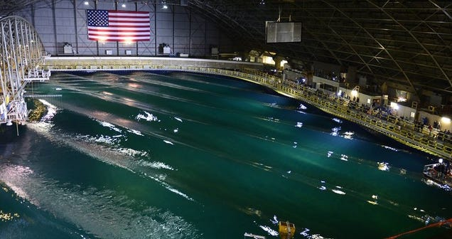The Navy Built Its Own Indoor Ocean to Test Ships