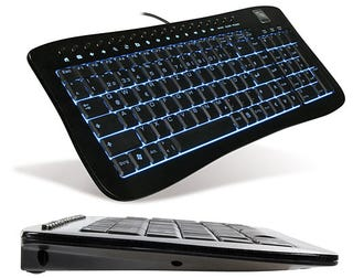 Illustration for article titled Speed Link Aluminum Keyboard, Backlit in Blue