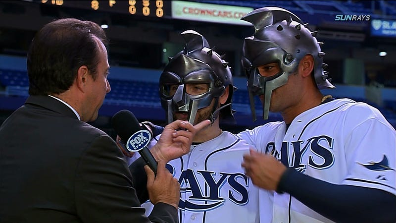 Illustration for article titled The Rays' Luke Scott And Carlos Peña Ask: Are You Not Entertained?