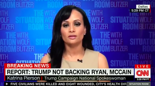 Katrina Pierson, spokesperson for GOP presidential nominee Donald TrumpYouTube Screenshot