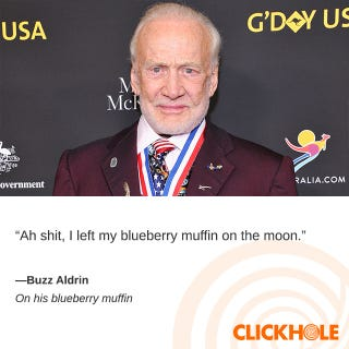 Illustration for article titled Buzz Aldrin Said What?!