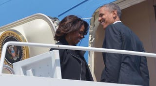 President Barack Obama and first lady Michelle ObamaMANDEL NGAN/AFP/Getty Images