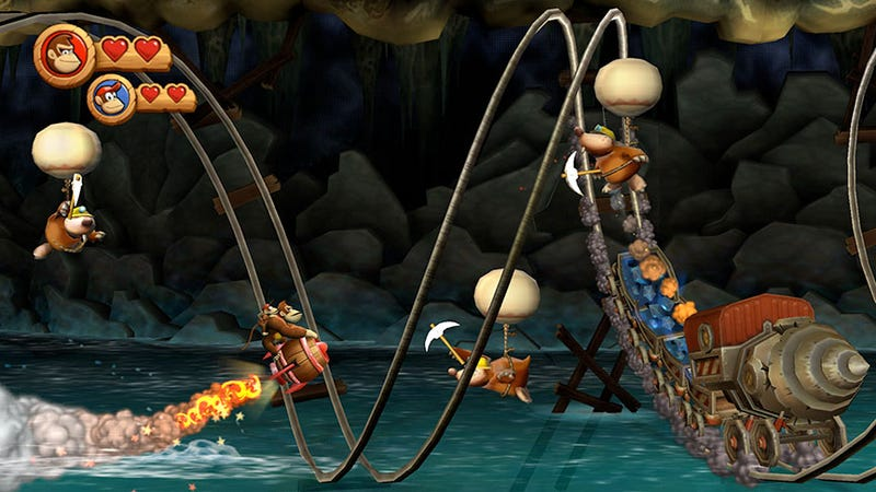 Illustration for article titled Review: Donkey Kong Country Returns Is Hypnotic, Hard Fun