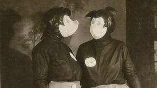 Illustration for article titled These are the probably the most terrifying Mickey Mouse costumes ever worn