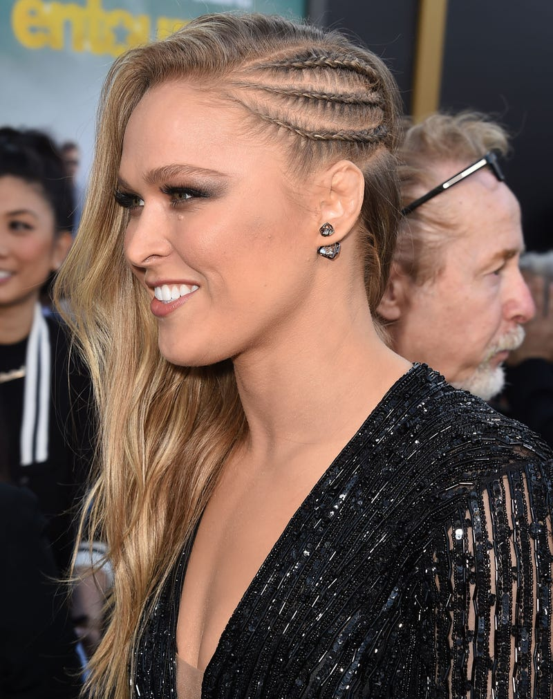 Mixed martial artist Ronda Rousey arrives at the Entourage Los Angeles premiere at the Regency Village Theatre in Westwood, Calif., on June 1, 2015. Steve Granitz/WireImage