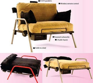 Throw Away That Moldy Futon You Got From Your Brother When He Moved To New York And Pick Up One Of These Hotseat Flip Surround Sound Gaming Futons