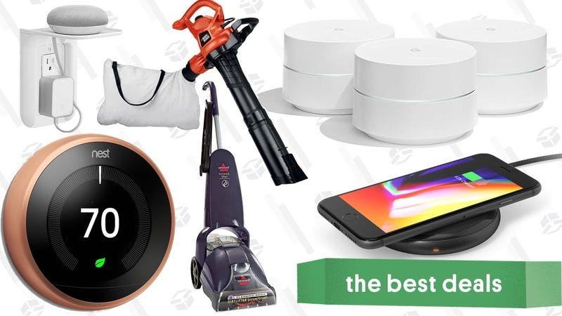 Illustration for article titled Saturday's Best Deals: Google Wifi, Nest Sale, Leaf Blowers, and More