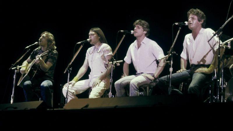 Eagles Joe Walsh, Timothy B. Schmit, Glenn Frey, Don Henley, and Don Felder, late '70s. Photo: Michael Ochs Archives/Getty Images