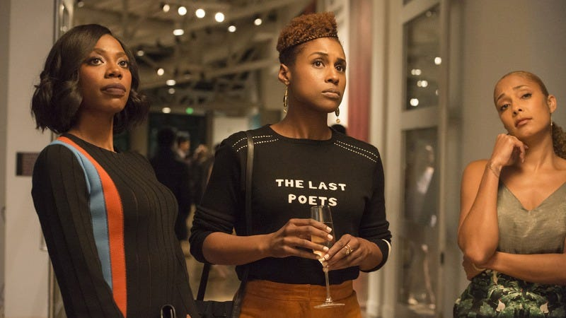 Yvonne Orji (left), Issa Rae, Amanda Seales (Photo: Justina Mintz/HBO)