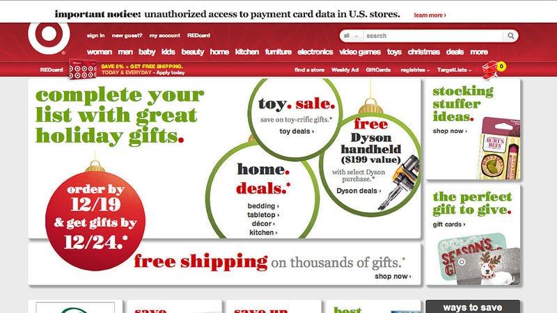 Illustration for article titled Target Credit Card Database Hacked; Hide Your Kids, Hide Your Presents