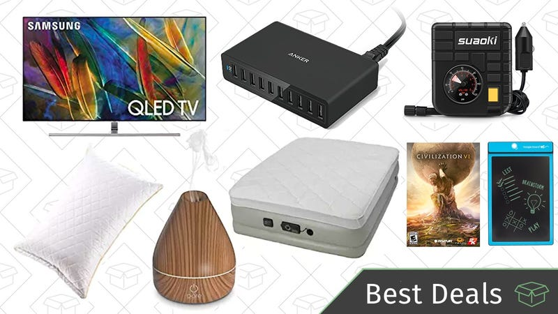 Illustration for article titled Friday's Best Deals: Cash Back on Select OLED TVs, Shortcut Pro, Aromatherapy Diffusers, and More