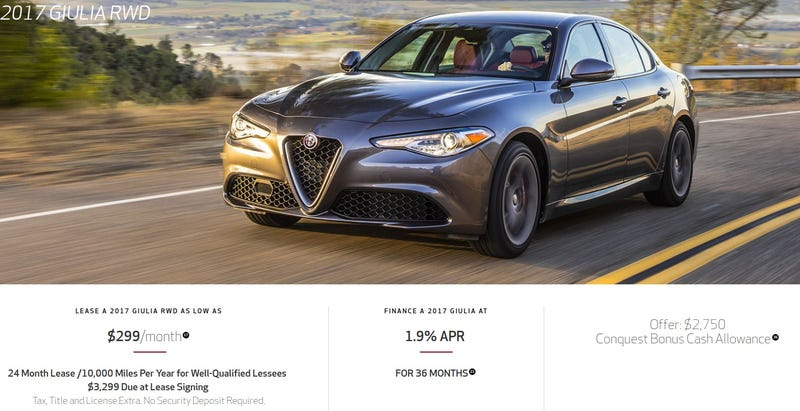 Alfa Romeo Giulia Dallas >> Here S How That 299 A Month Alfa Romeo Giulia Lease Deal Really Works